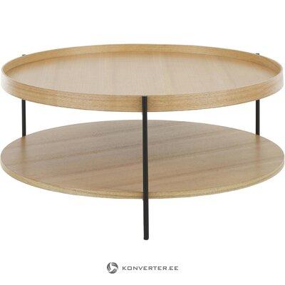 Vaaleanruskea sohvapöytä (renee) (kauneusvirheillä., Hall-näyte)