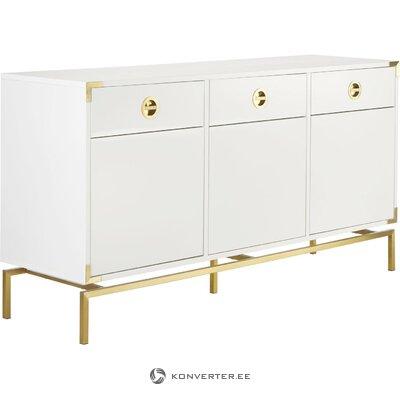 Kumodes elegance ar baltā zelta detaļām