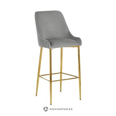 Gray-golden bar stool (opening)