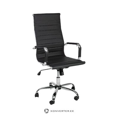 Black office chair praga (bizzotto)