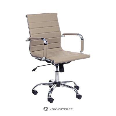 Beige office chair Prague (bizzotto)