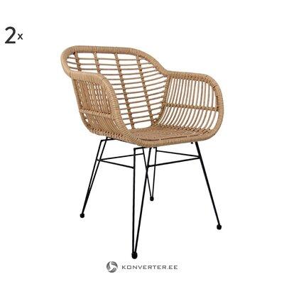 Садовый стул коричнево-черный (коста) (здоровый)