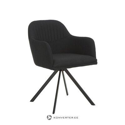 Melns grozāms krēsls (lola) (zāles paraugs)