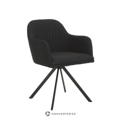 Black swivel chair (lola) (hall sample)