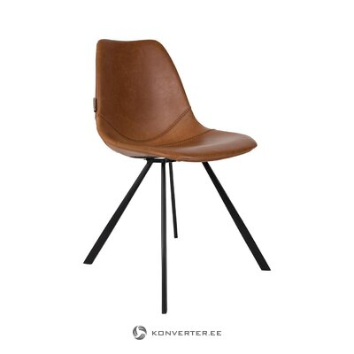 Brown-black chair franky (dutchbone) (with beauty defects., Hall sample)