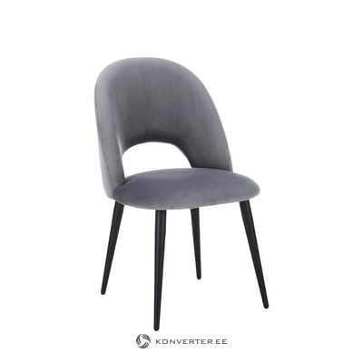 Gray velvet chair (rachel) (healthy sample)