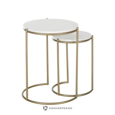 Marble coffee table set (ella) (small flaws hall sample)