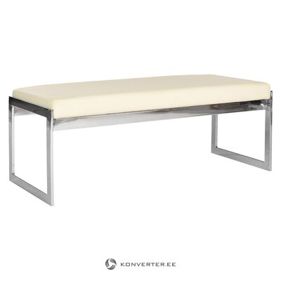 Beige-silver bench george (safavieh) (dirty, hall sample)