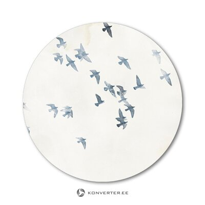 Round mural pigeons sky (malerifabrikken) (with beauty defects., Hall sample)