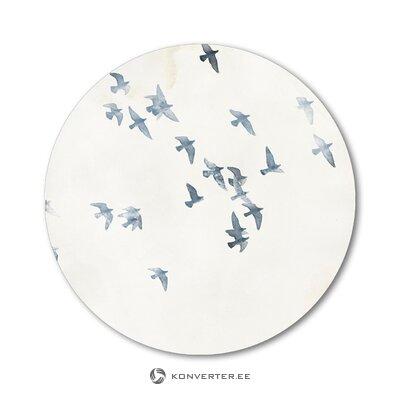 Apaļas sienas baloži debesis (malerifabrikken) (ar skaistuma defektiem., Hall paraugs)