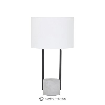 White-black table lamp (pipero) (small bugs hall sample)