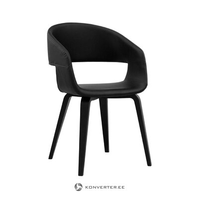 Black chair nova (interstil denmark) (with beauty defects, hall sample)