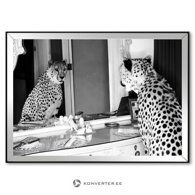 Mural cheetah looking (g & c interiors) (defects, hall sample)