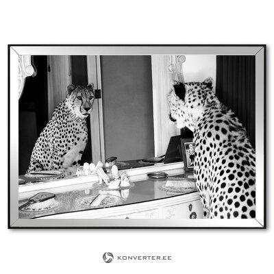 Seinämaalaus gepardi näköinen (g & c sisätilat) (viat, hallinäyte)
