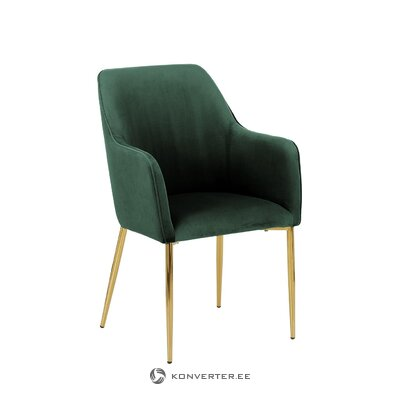 Green velvet chair (aperture) (with beauty defect, hall sample)
