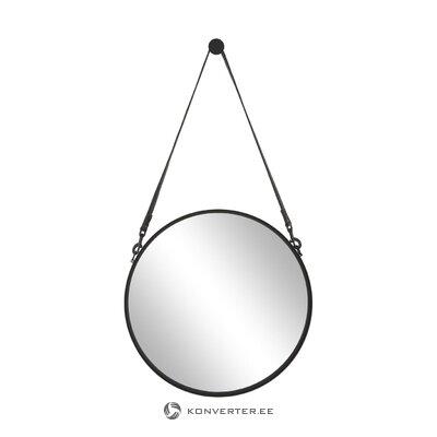 Melns rāmja sienas spogulis (liz) (vesels)