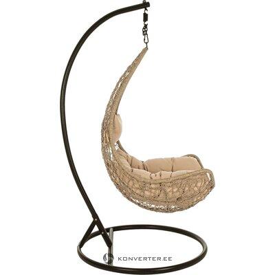 Pilka aksomo pasukama kėdė (lola) (defektas, salės pavyzdys)