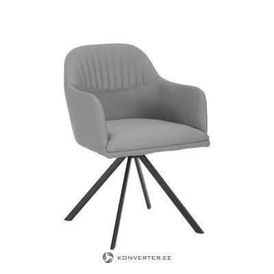 Pilka-juoda pasukama kėdė (lola) (visa, salės pavyzdys)