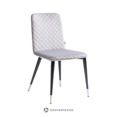 Beige-black velvet chair liam (rough design) (hall sample)