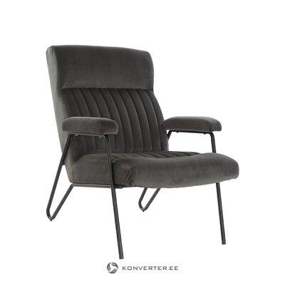 Кресло из серого бархата gary (деталь)