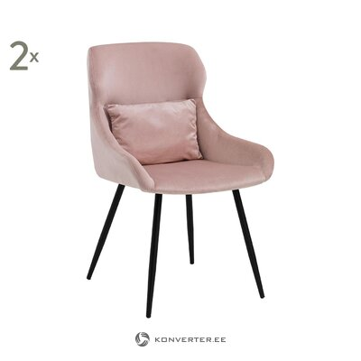 Pink velvet chair (with defects. Hall sample)
