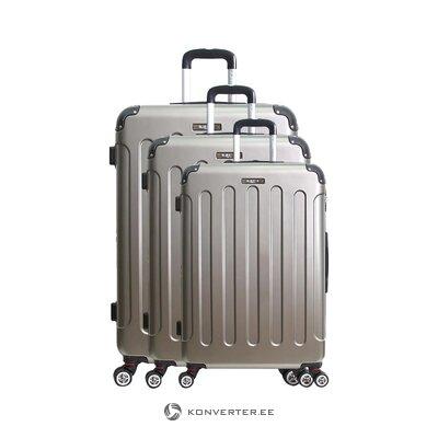Smėlio spalvos vidutinio dydžio lagaminas tunisuose (bluestar)