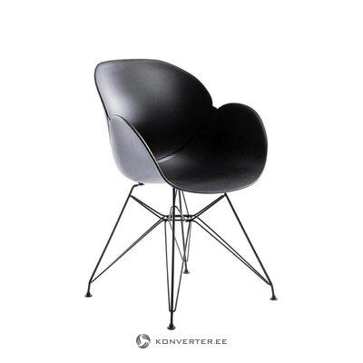 Черный дизайнерский стул с малагой (милано)