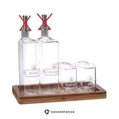 Õli Ja Äädika Pudelite Komplekt 5-Osaline Olive (Tradetogo)