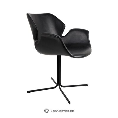 Juoda dizaino kėdė Nikki (Zuiver)