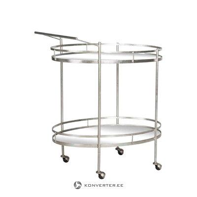 Silver serving trolley jeremiah (safavieh)