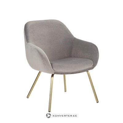 Кресло из серого бархата (jana)