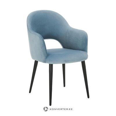 Голубое бархатное кресло (rachel)