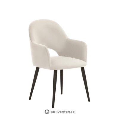 Gaišs samta krēsls (Rachel)