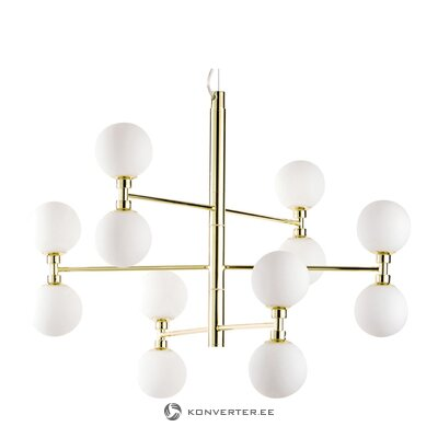 Подвесной светильник бело-золотой (гровер)