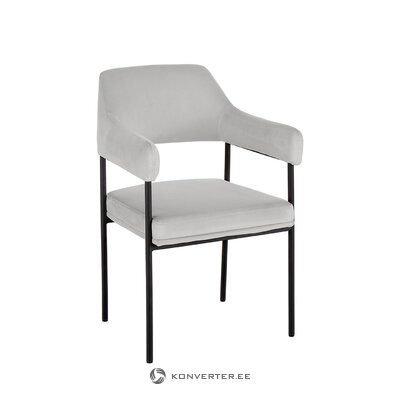 Light gray-black chair (zoe) (hall sample)