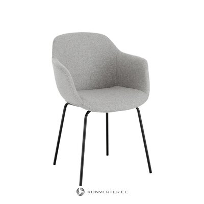 Light gray-black chair (fiji) (hall sample)