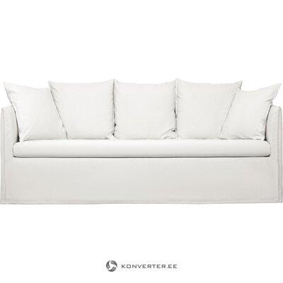White triple sofa mila