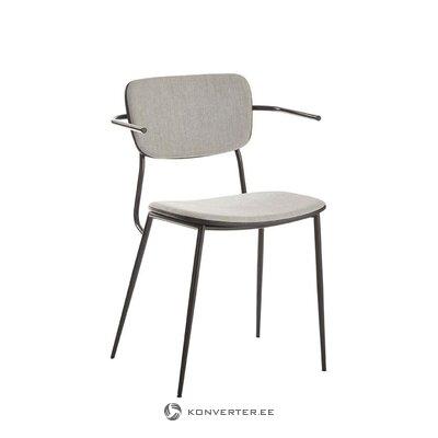 Pelēks-melns krēsls Pavia (unico milano)