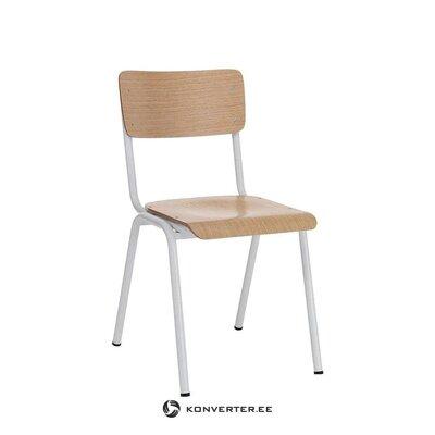 Ruskea ja valkoinen tuoli old school (tomasucci)