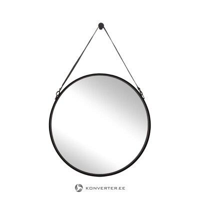 Зеркало настенное в черной раме (liz)