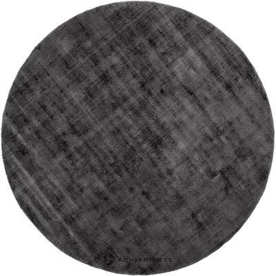 Dark gray viscose rug (jane)