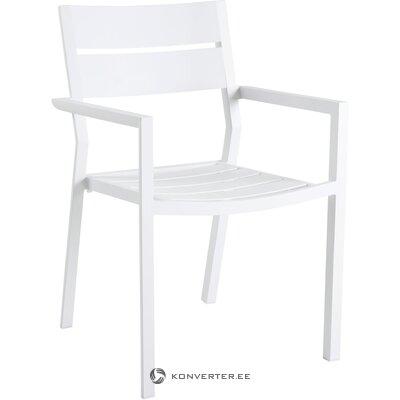 Белый садовый стул (delia)