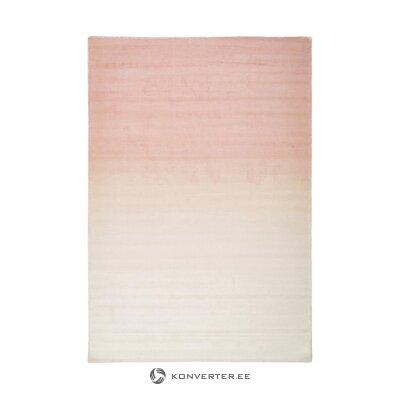 Rausvai smėlio spalvos viskozinis kilimas (alana) 160x230cm