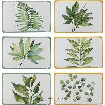 Lautasarja 6 kpl botanique (villa d´este)
