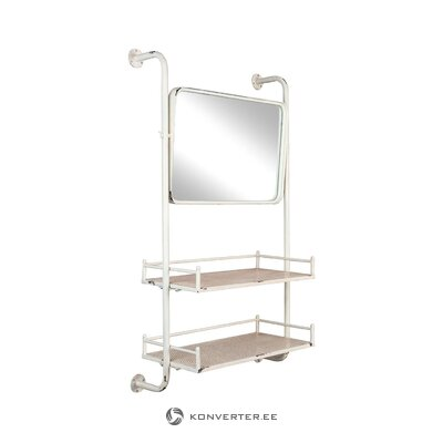 Wall shelf with mirror barber (zuiver) (hall sample)