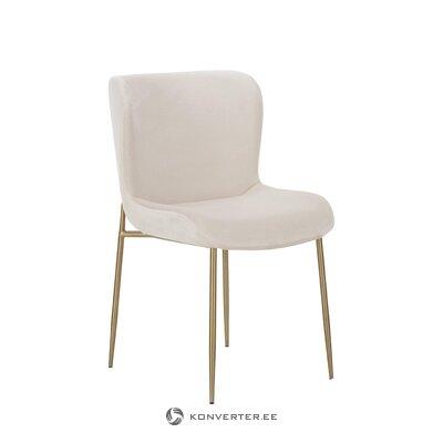 Beige-golden velvet chair (tess)