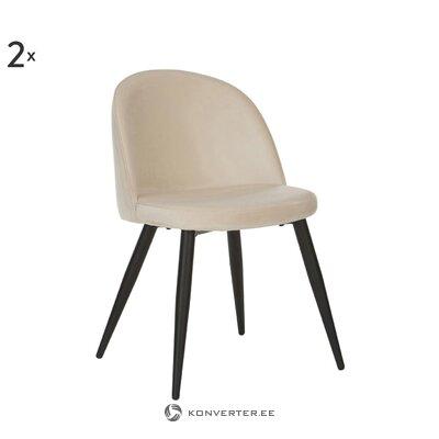 Бежевый бархатный стул amy (андерсон) (с несовершенствами холл образец)