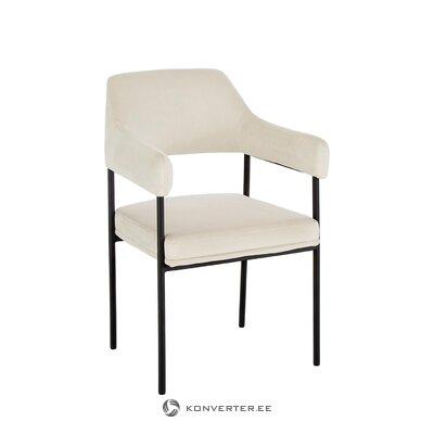 Cream white armchair (zoe) (beauty defect hall sample)