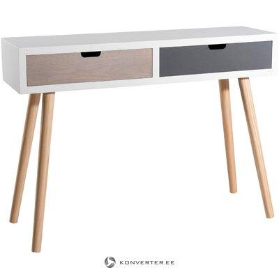 Консольный стол с ящиками enzo (макабане) (цельный образец холла)
