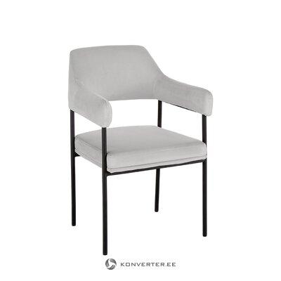 Vaaleanharmaa-musta tuoli (zoe) (pieniä vikoja)